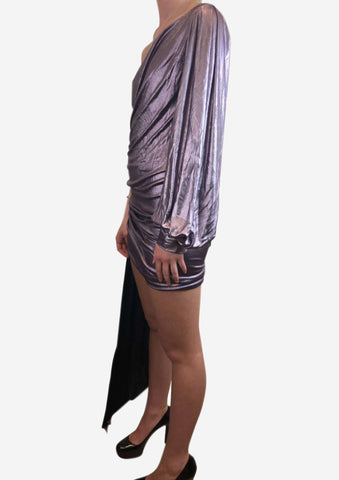 Alexandre Vauthier Purple One Shoulder Dress Size 8 RRP £1,500 Alexandre Vauthier - Timpanys