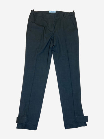 Charcoal coloured trousers with an elasticated cuff - size IT 42