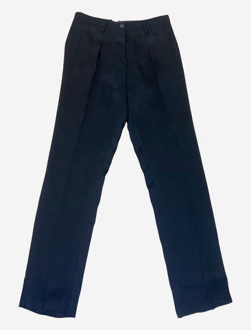 Navy straight leg trousers - size IT 42