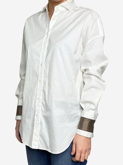 White button up shirt - size S
