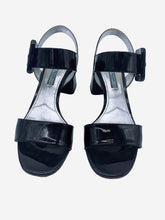 Load image into Gallery viewer, Black painted open toe block heeled sandals - size EU 38.5