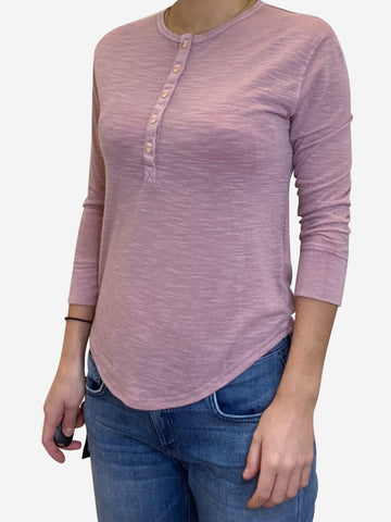 Pink long sleeve Love top - size XS