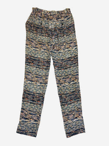 Blue and orange partnered elasticated trousers - size FR 36