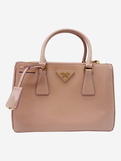 Pale pink Saffiano Vernice Galleria cross body bag