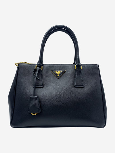 Galleria Saffiano black small tote bag
