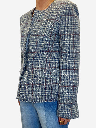 Blue tweed single button jacket - size FR 38