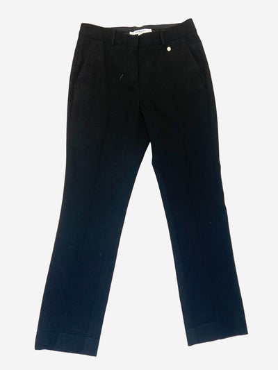 Black suit style wool trousers - size FR 38