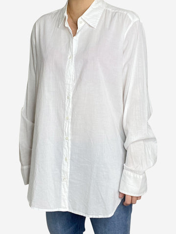 White collared shirt - size M