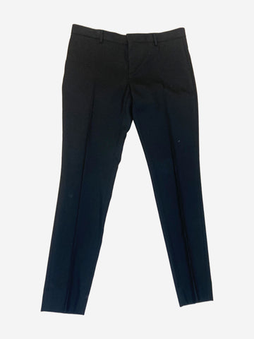 Black suit style trousers - size UK 12