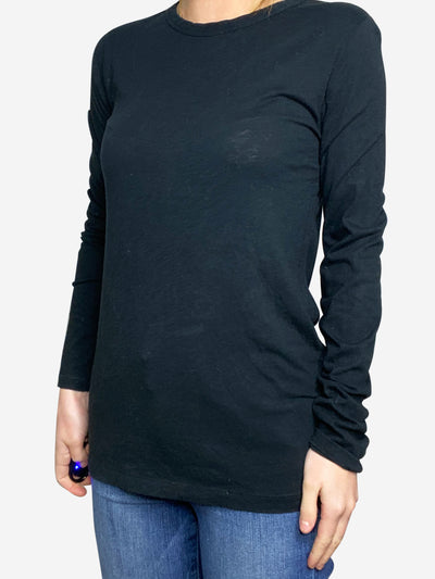 Black long sleeve top - size S