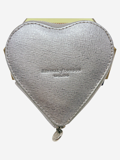 Silver heart shaped coin purse