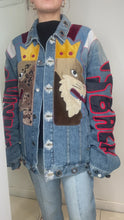 Load and play video in Gallery viewer, Blue animal denim jacket - size XXL