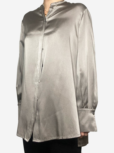 Taupe silk blouse - size IT 44