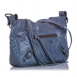 Blue Motocross classic hip crossbody bag
