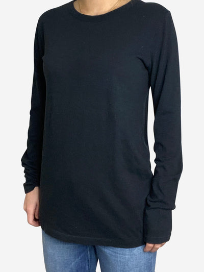 Black long sleeve top - size M