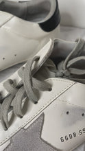 Load and play video in Gallery viewer, Superstar white & grey low-top trainers - size EU 40