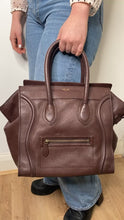 Load and play video in Gallery viewer, Brown Micro luggage tote bag