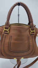 Load and play video in Gallery viewer, Brown Marcie medium leather tote bag