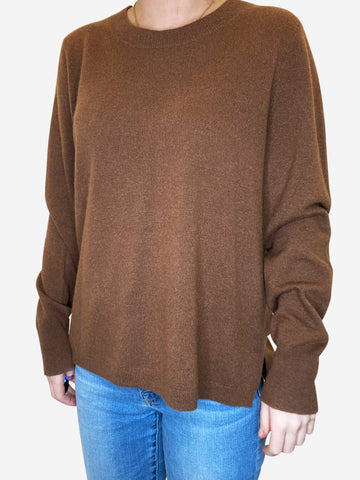 Brown cashmere jumper - size L
