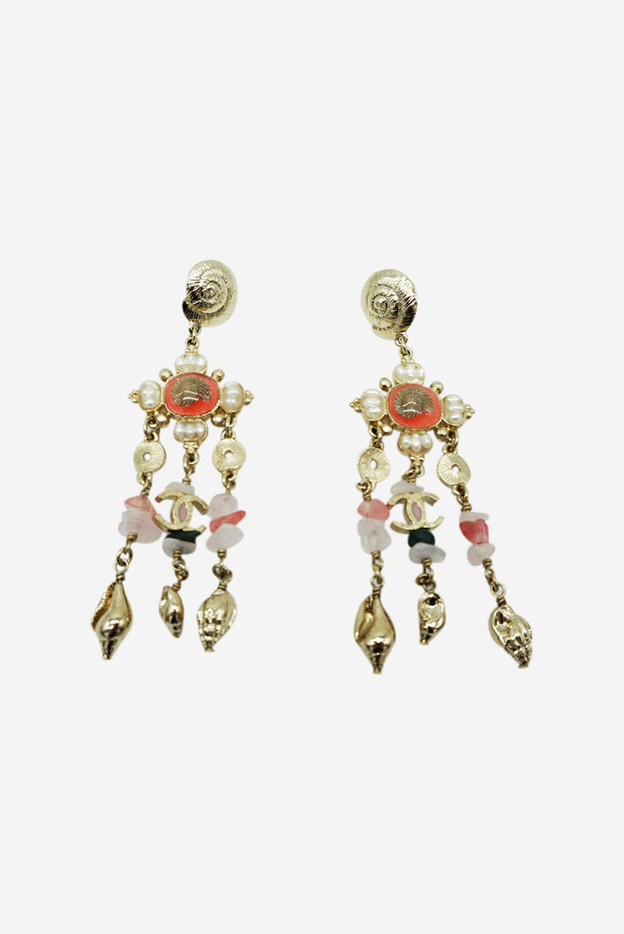 Chanel Seashells and Gems Drop Earrings RRP £860 Chanel - Timpanys