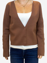 Load image into Gallery viewer, Dark pink/brown cardigan - size 12