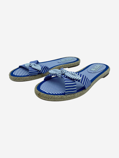Blue and white sandals - size EU 38.5