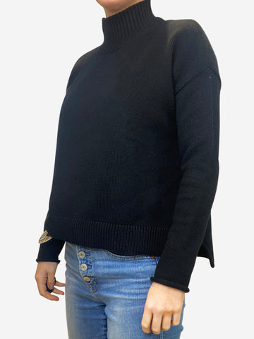 Black High Neck Sweater - size S