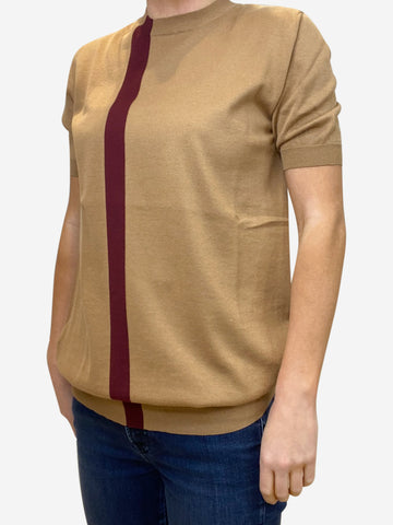 Mustard short sleeve top - size IT 42