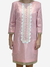 Load image into Gallery viewer, Baby pink mid sleeve dress - size UK 10