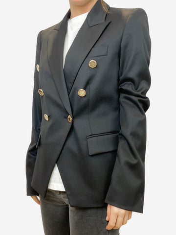 Black blazer with gold buttons -size FR 40