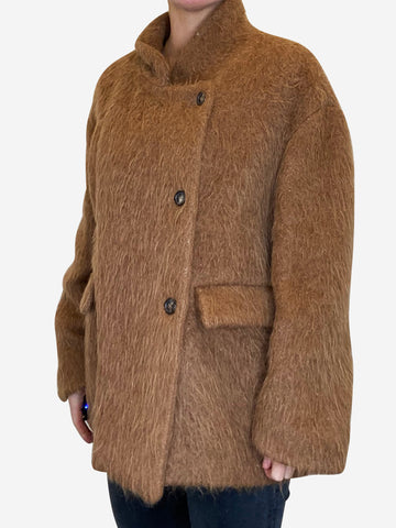 Camel wool coat - size FR 44