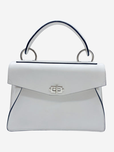 White leather cross-body bag
