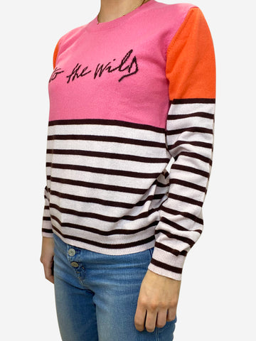 Pink and orange cashmere jumper - size S