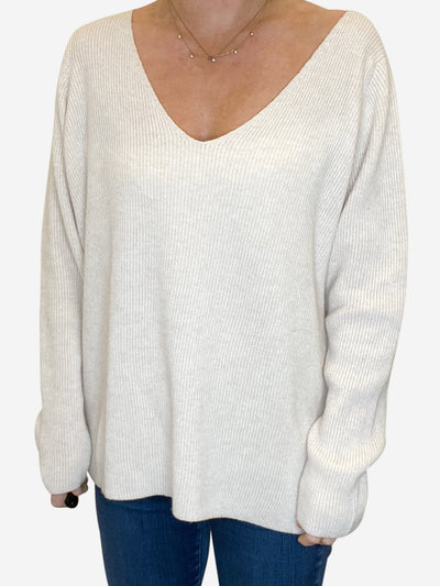Cream cashmere jumper - size UK 12-14