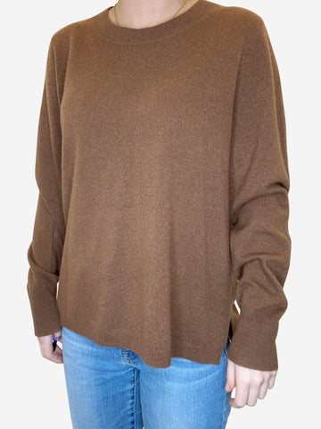 Brown jumper - size M