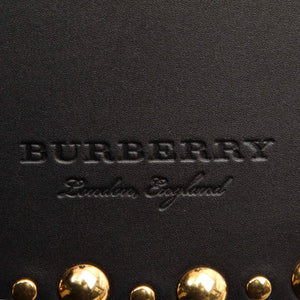 Burberry Black and gold fabric and leather backpack