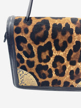Load image into Gallery viewer, Cheetah print and snakeskin leather crossbody bag