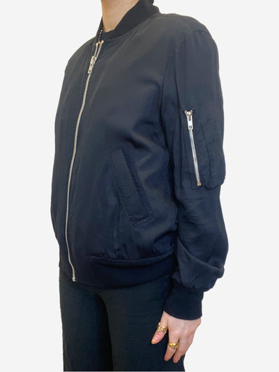Black lightweight zip up bomber jacket - size IT 44