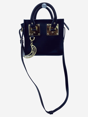 "Albion ""Go Bananas"" nano black leather tote crossbody"
