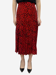 Rixo Tina black & red animal print skirt - size L
