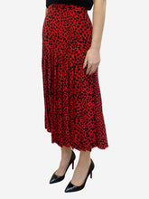 Load image into Gallery viewer, Tina black & red animal print skirt - size L