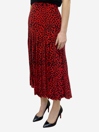 Tina black & red animal print skirt - size L