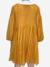 Load image into Gallery viewer, Mustard Peter Pan collar pleated dress - size FR 38