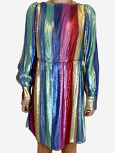 Load image into Gallery viewer, Ava multi stripe sequin mini dress - size M