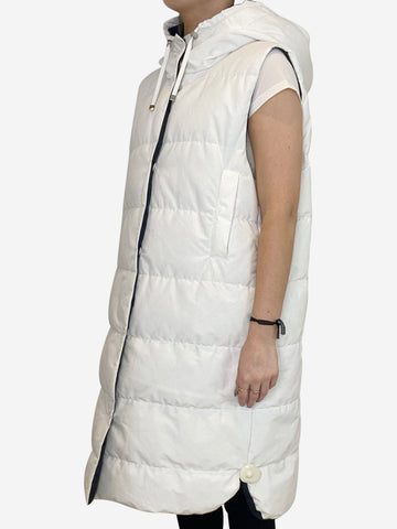 White sleeveless gilet - size UK 10