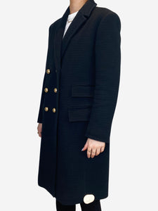 Navy double breasted coat with gold buttons - size IT 44