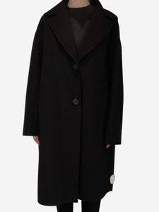 Mansur Gavriel Black oversized single breasted coat - size IT 44