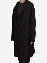 Load image into Gallery viewer, Black oversized single breasted coat - size IT 44