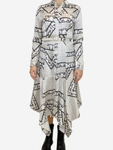 Load image into Gallery viewer, White / grey Ganni L/S, 10