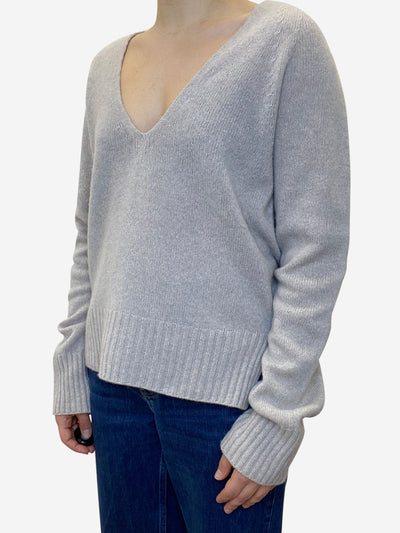 Light taupe v-neck sweater - size XS